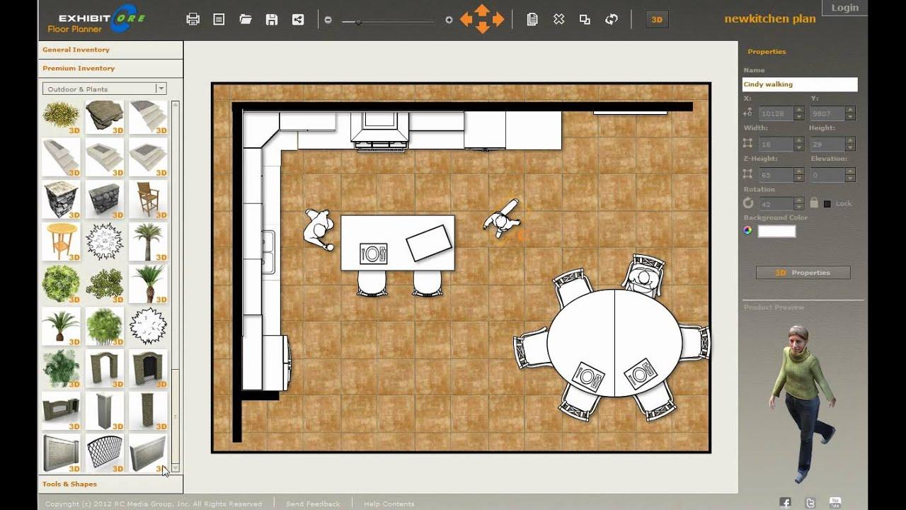 Design a new kitchen with exhibitcore floor planner 4 of 4 for Exhibitcore floor planner