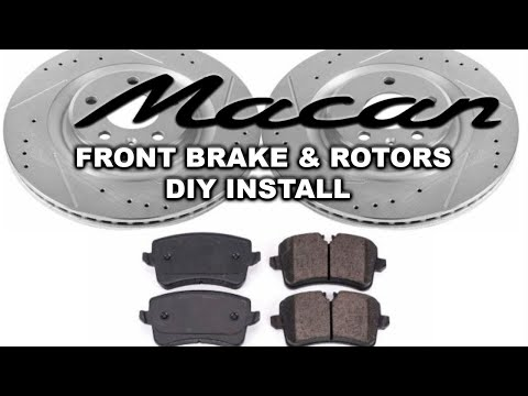 How to change Porsche Macan Front Brake Pads and Rotor Replacement DIY