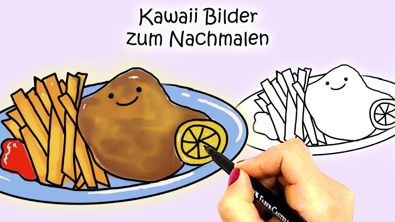 ausmalbilder essen kawaii