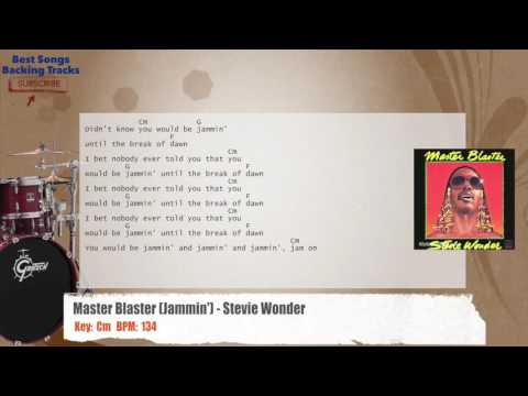 Master Blaster (Jammin') - Stevie Wonder Drums Backing Track with chords and lyrics