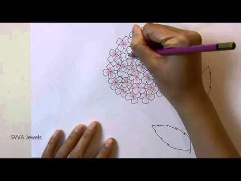 how to draw a hydrangea flower