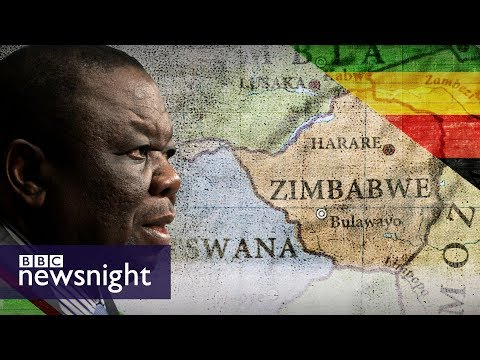 Morgan Tsvangirai reacts to President Robert Mugabe's resignation - BBC Newsnight