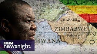 Morgan Tsvangirai reacts to President Robert Mugabe's resignation - BBC Newsnight