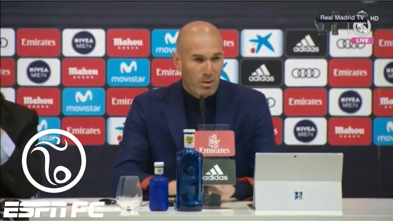 Real Madrid coach Zinedine Zidane says he won't resign after ...