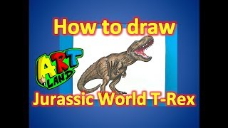How to Draw the T-Rex from Jurassic World