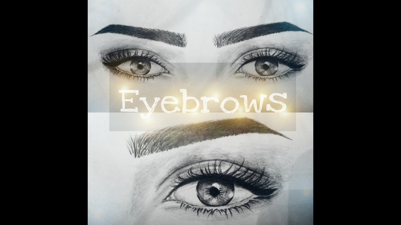 How to draw eyebrows step by step tutorial