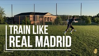 Real Madrid Soccer Drills - Shooting and Speed Training Like Ronaldo and Bale!
