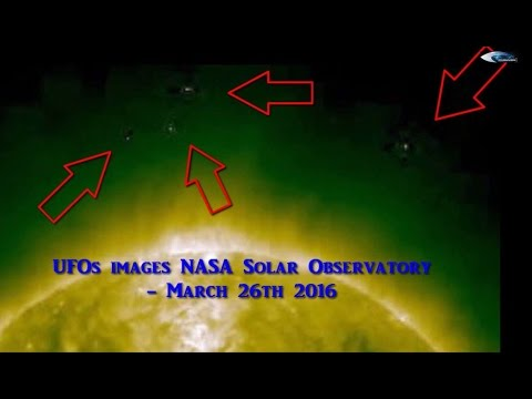 UFOs images NASA Solar Observatory - March 26th, 2016
