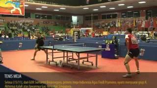 PETENIS MEJA PUTRA Agus F Pramono [INA] vs Gao Ning [Singapura], SEA GAMES 15-11-2011
