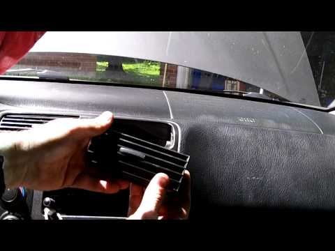 How to fix floppy dashboard air vents.Honda Civic
