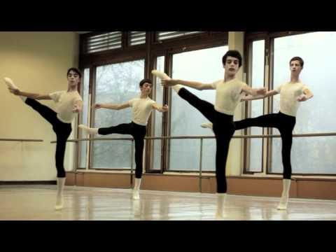 5th year boys ballet exam in Bolshoi Ballet Academy