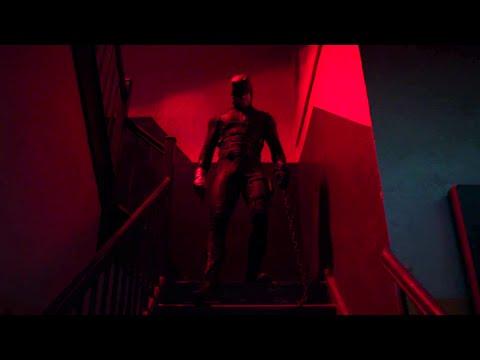 Stairwell fight scene from Daredevil season 2 planos secuencia en series