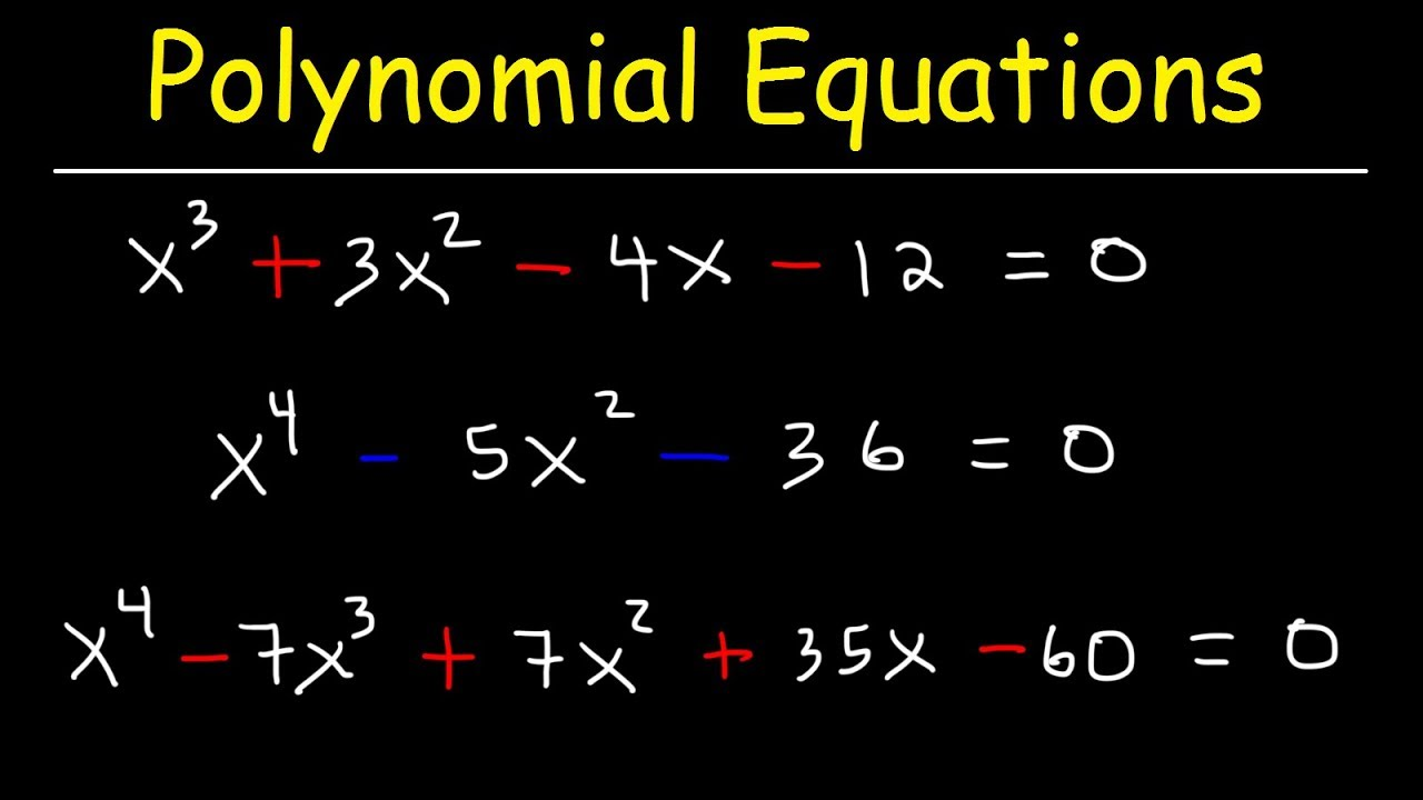 Download Solving Polynomial Equations By Factoring and Using Synthetic Division