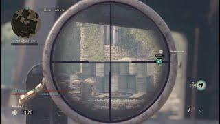 COD WW2 sniping war