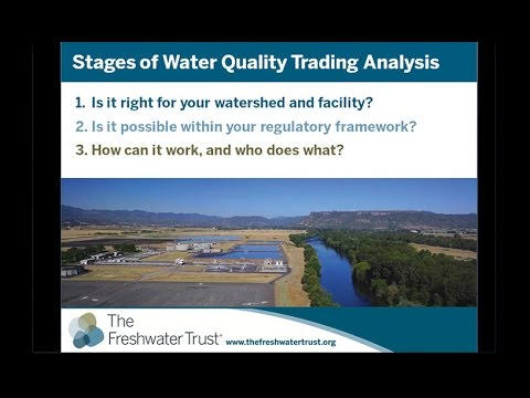 Webinar: Is a Water Quality Trading Program Right for Your Facility?