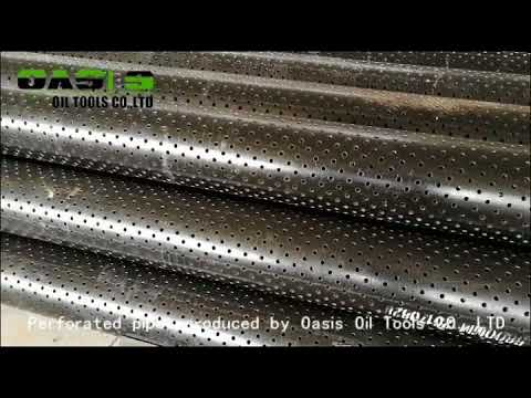 perforated casing, perforated pipe for well drilling
