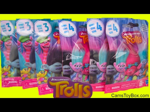 Dreamworks Trolls Series 1 To 6 Blind Bags Opening Tin Box
