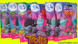 Dreamworks Trolls Blind Bags Series 3 and 4 Surprise Toys Opening Names Fun Toy Review Kids Bag