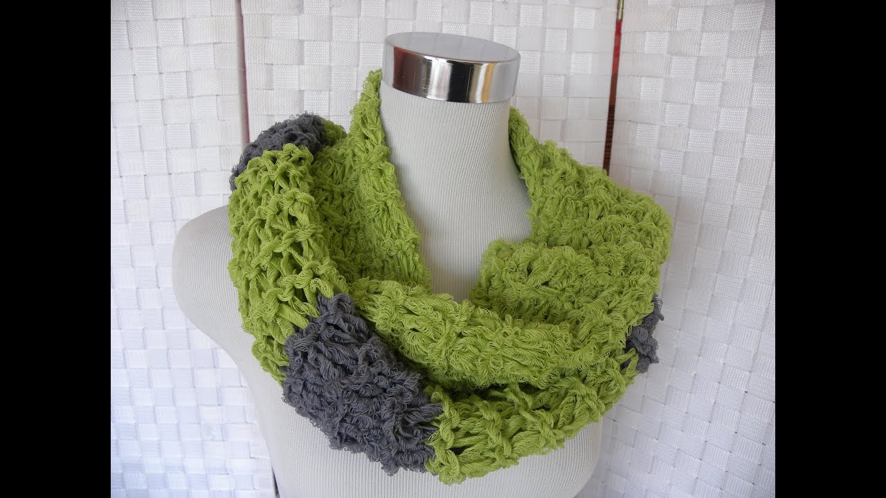 Stricken - Sommerschal unserer Woolly Hugs-Gruppe auf facebook - YouTube