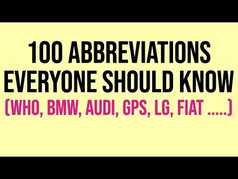 100 Abbreviations Everyone Should Know    Interesting Facts    Important Abbreviations