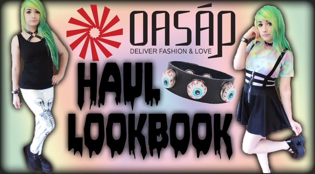 370f518a32f0 Pastel Goth Nu-Goth OASAP Haul Lookbook - YouTube