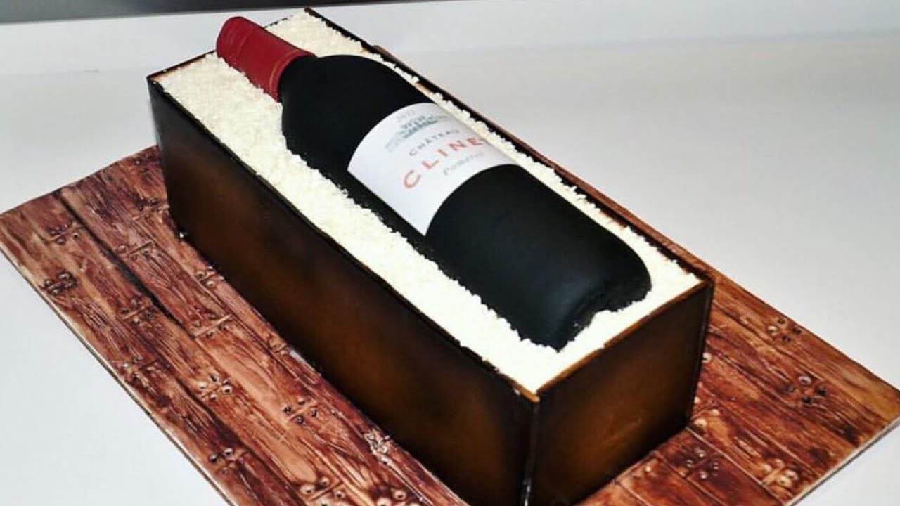 Cake Decorating Tutorials How To Make A Wine Bottle In A Wood