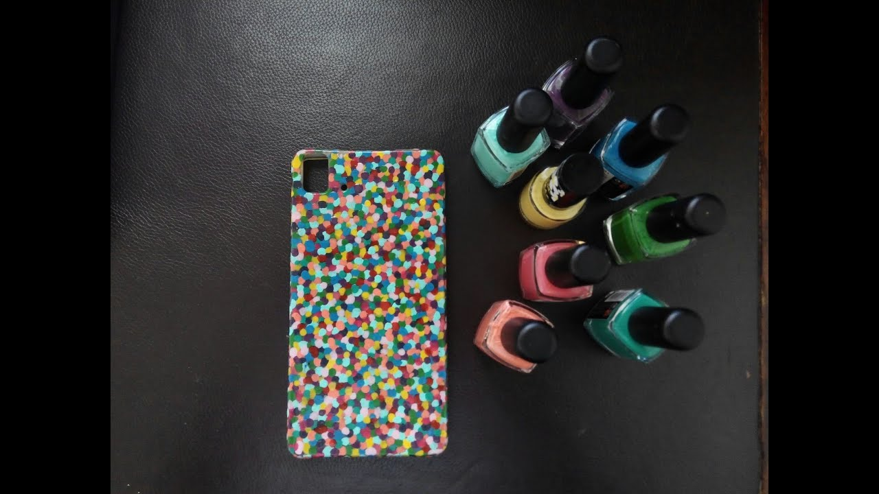 Diy funda para el movil con pintau as de colorines youtube - Como decorar una funda de movil ...