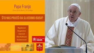 Papa Franjo: Ne može se bez slobode slijediti Isusa!