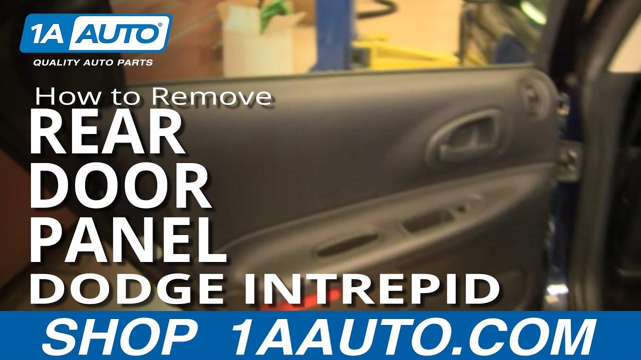 How to install replace rear door panel dodge intrepid 98 04 1aauto com