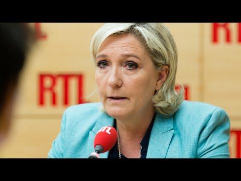 Marine Le Pen était l'invitée de RTL le 12 juillet 2017