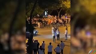 Люди массово вышли на улицы Баку в поддержку азербайджанской армии