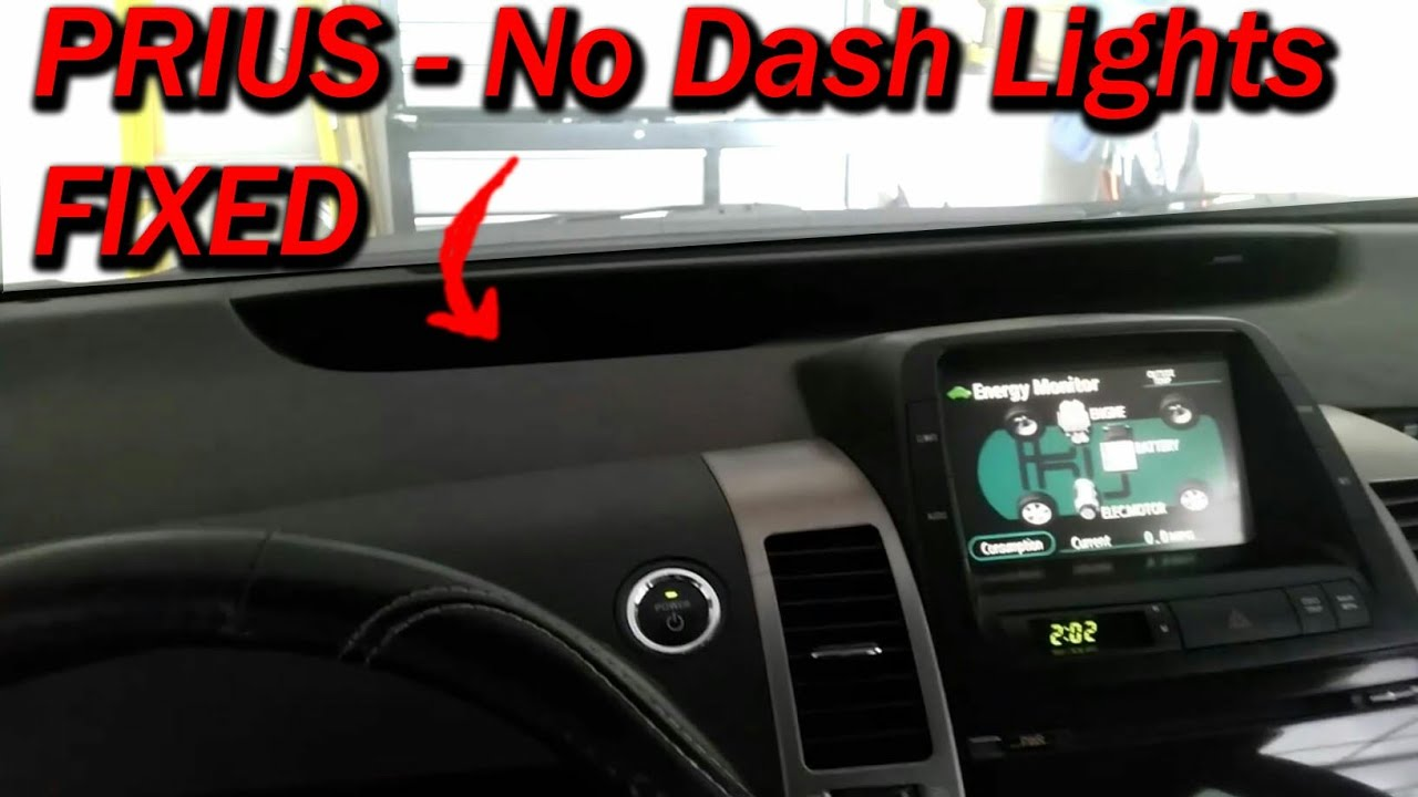 Prius No Dash Lights Fixed Youtube