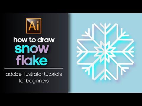 HOW TO DRAW A SNOWFLAKE? ADOBE ILLUSTRATOR TUTORIAL thumbnail