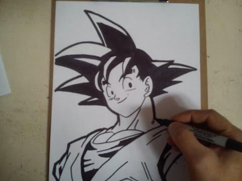 how to draw goku ssj4 step by step