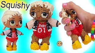 LOL Surprise DIY SQUISHY DOLL ! Handmade Do It Yourself Sponge Craft Video
