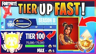 "How TO GET FREE TIER 100 ""MAX BATTLE PASS"" IN SEASON 8! - FASTEST WAY TO LEVEL & RANK UP In Fortnite"