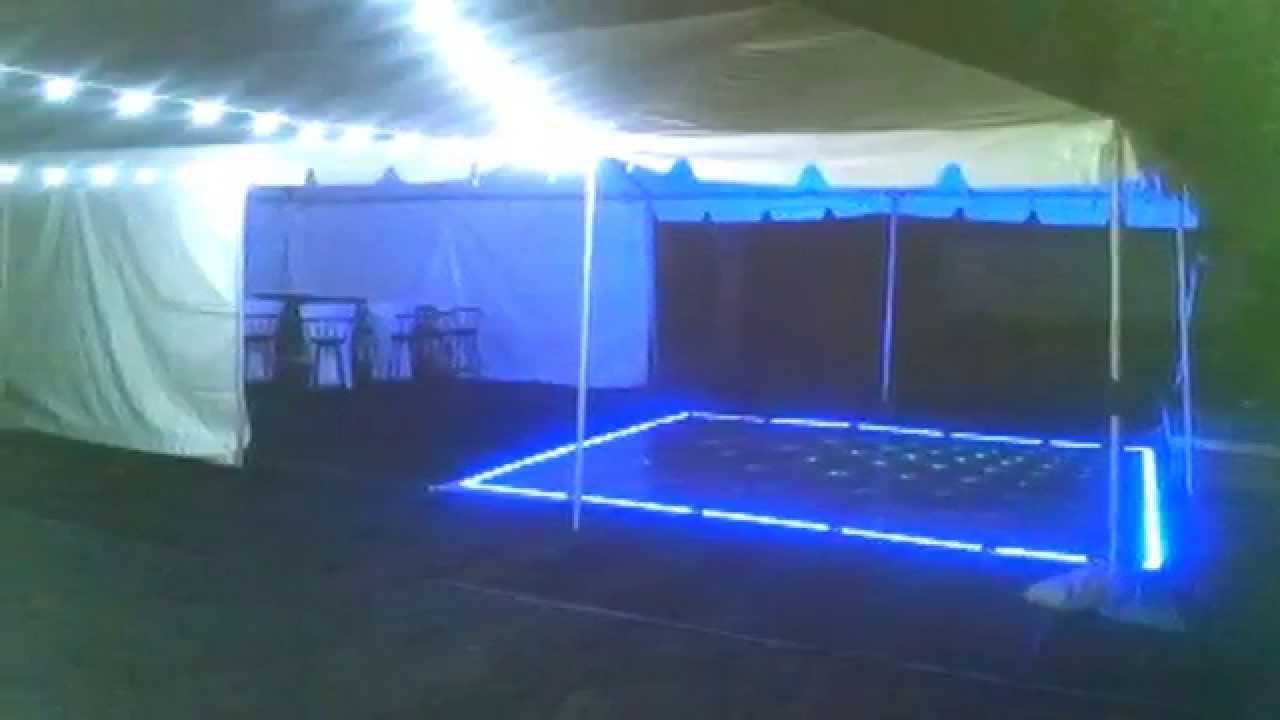 Led Dance Floor Canopy And String Lights Rental For You