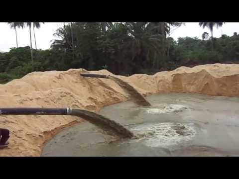 Two 7012 HP Dredgers Pumping Sand Together