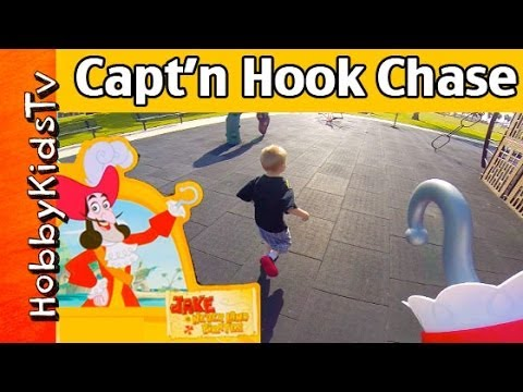 Captain Hook at the Park with HobbyKids