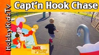 Play-Doh Captain Hook Chases HobbyKids on Pirate Ship