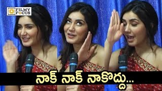 Raashi Khanna Doing Nakodu in Live Interview : Funny Video