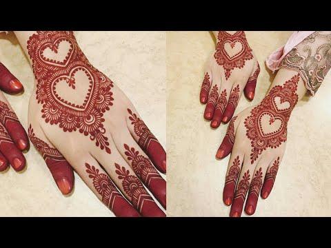 Eid-al-Azha/Karwachauth Special Mehndi Design Easy&simple Mehndi Design For Rakhi Back Hand Mehndi  