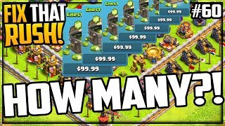 14,000 MORE Gems! Fix That Rush - Clash of Clans Episode 60