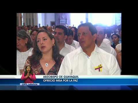 Arzobispo de Guayaquil ofreció misa por la paz