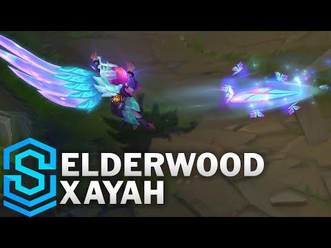 Elderwood Xayah Skin Spotlight - Pre-Release - League of Legends