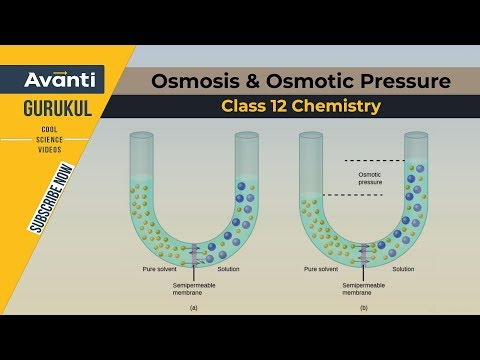 Class 12 Chemistry - Osmosis & Osmotic Pressure
