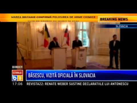 Traian Basescu, in Slovacia: Nu vom accepta teoria drepturilor colective pentru minoritati