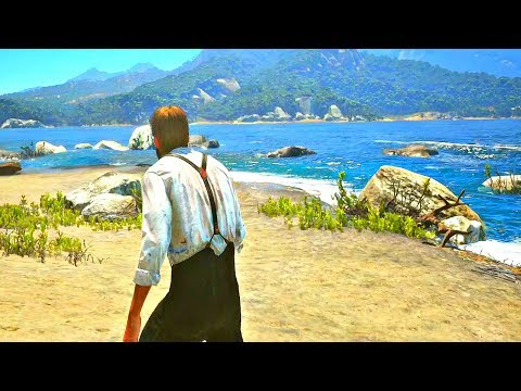 Red Dead Redemption 2 - Ship Crash & Stranded on Island (Island of Guarma Gameplay)