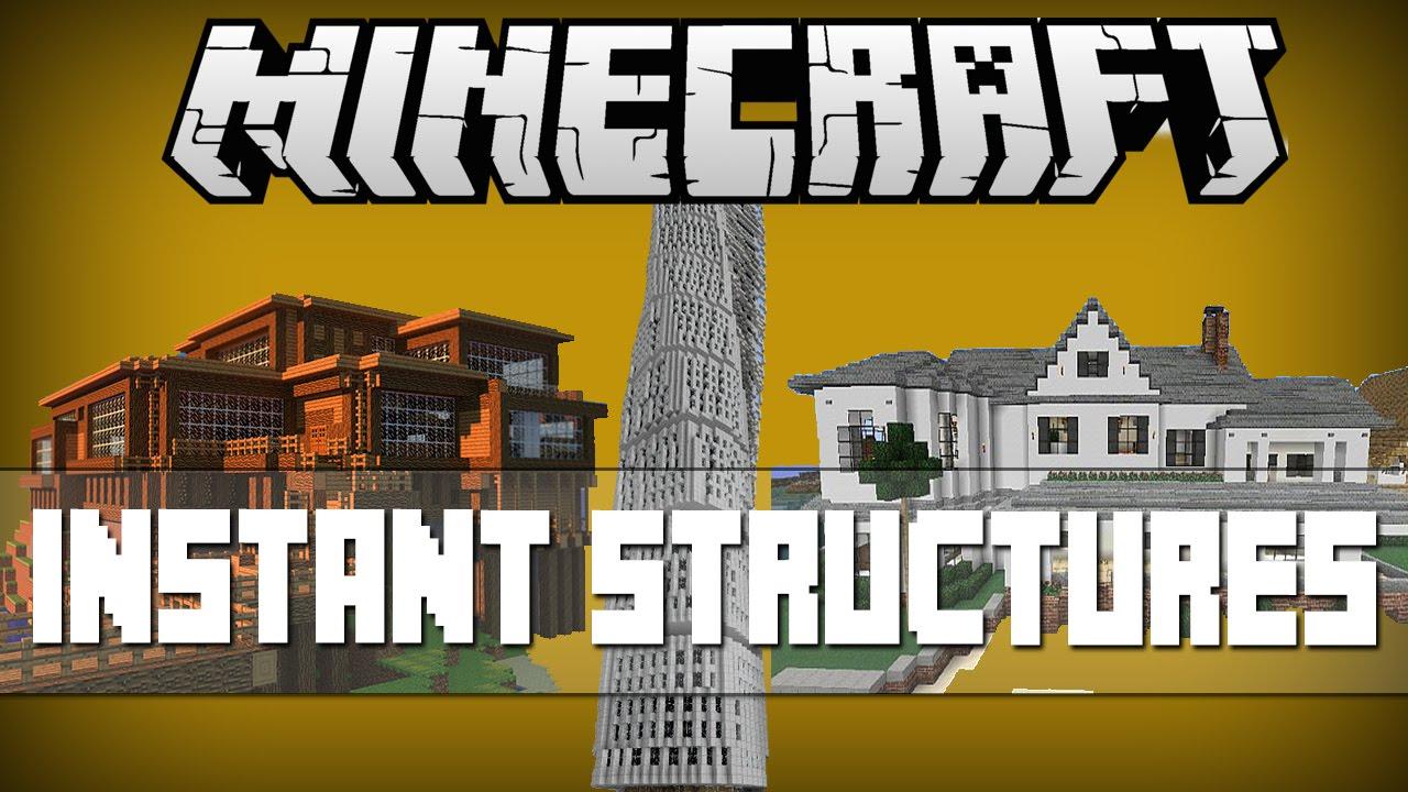 Minecraft INSTANT STRUCTURES AMAZING VILLASBIG MODERN HOUSES