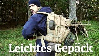 Übernachtung im Bushcraft Shelter 3 - Die Ausrüstung: Klamotten, Rucksack, Messer, Schlafsack, ...